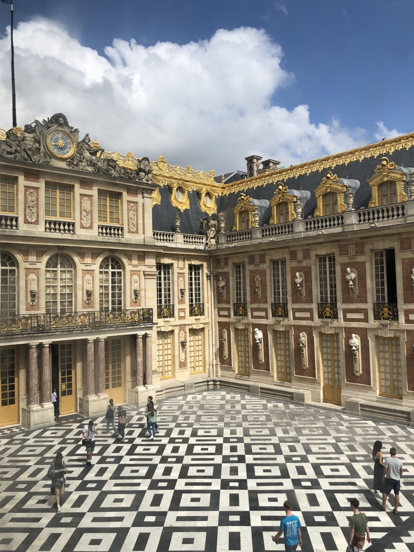 Courtyard of the Palace of Versailles