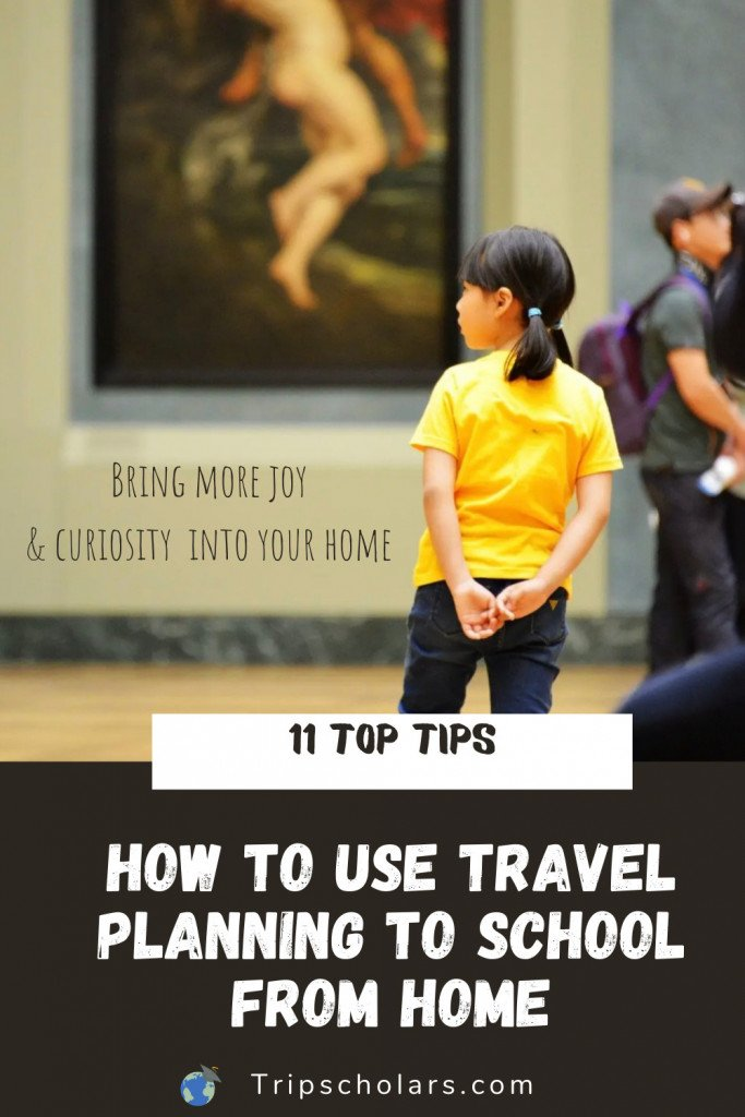 How to use travel planning to school from home pin