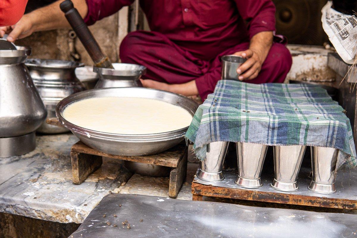 Lassi Stand in Lahore, Pakistan
