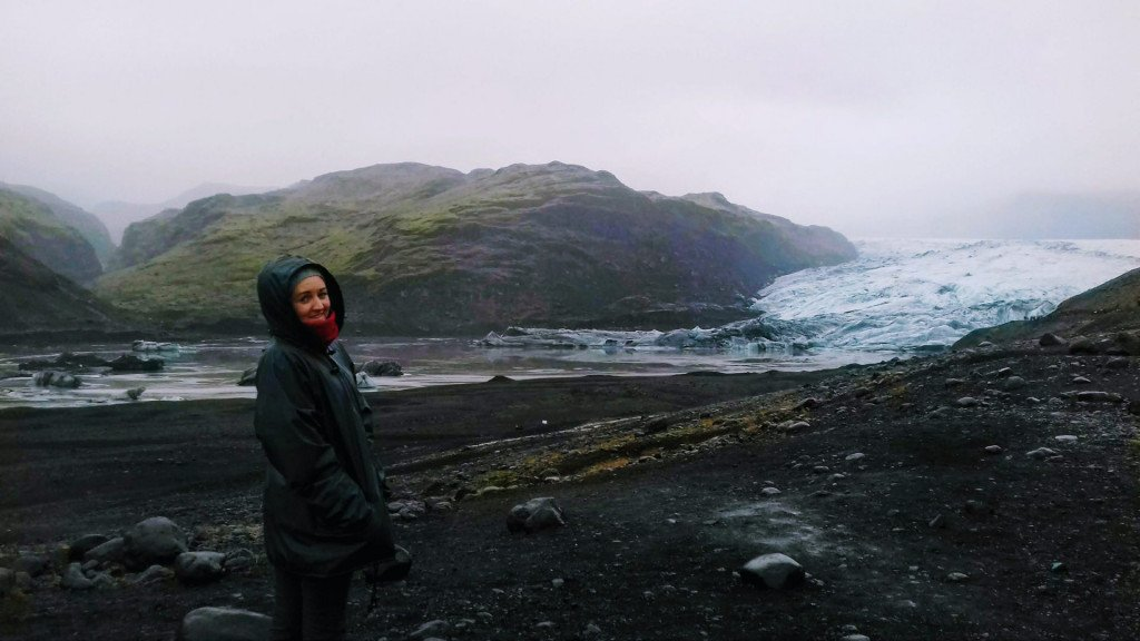 Sherbsworld in front of glacier