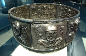 Celtic Silver Cauldron