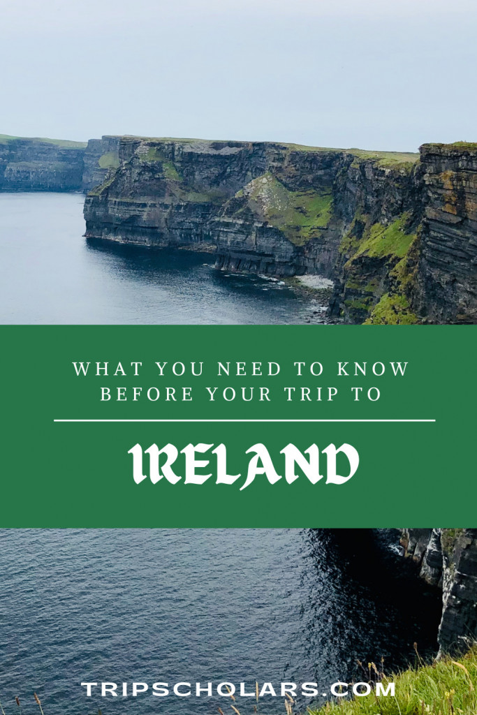 Tripscholars Ireland Pin