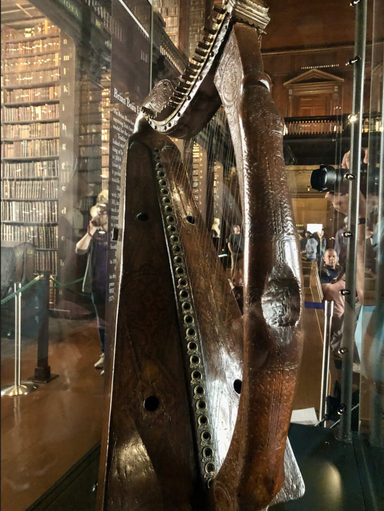 Brian Boru's Harp, The Long Room at Trinity College Library