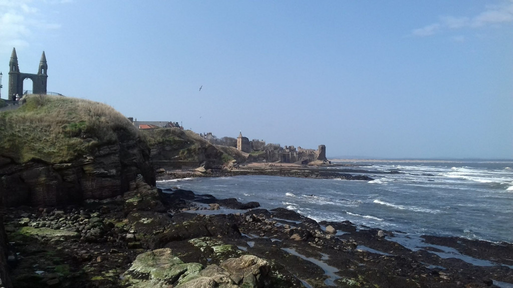 St andrews Beach and Ruins in Scotland