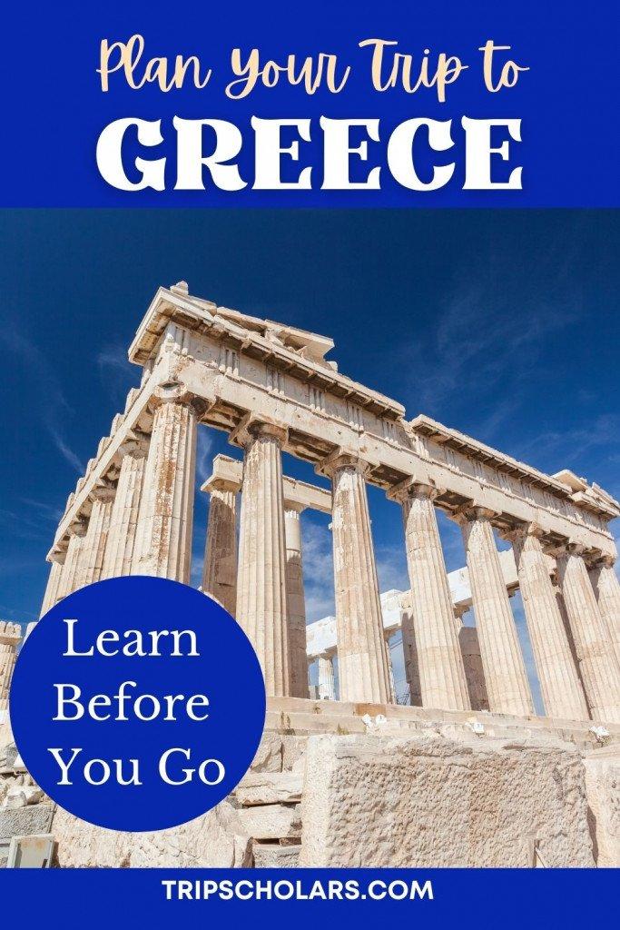 Plan trip to Greece Pin