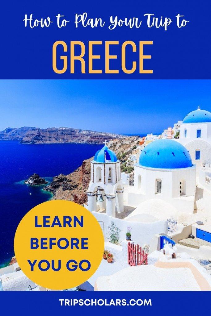 Plan a Trip to Greece Pin
