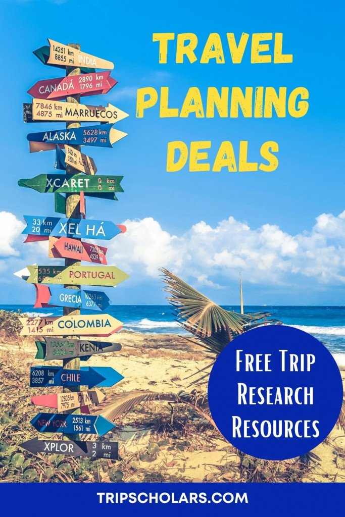 Travel Planning Deals Discover our free and discounted trip research resources. Here are free and cheap ways to learn more about the nature, culture, and hisotry of your destinations. Everyone who has done serious trip planning knows that it can take a lot of time and money to find quality resources! But it is worth it because investing in trip research allows us a much richer appreciation of our destinations. travel inspiration | travel tips | travel hacks | travel planning | budget travel